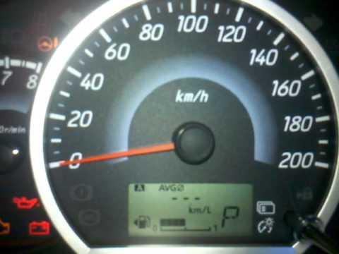 วิธีเปลี่ยนโหมดในรถมิราจให้เป็น KM / L
