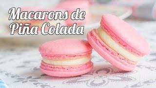 Macarons de Piña Colada | #11 Mesa dulce para Baby Shower | Quiero Cupcakes!