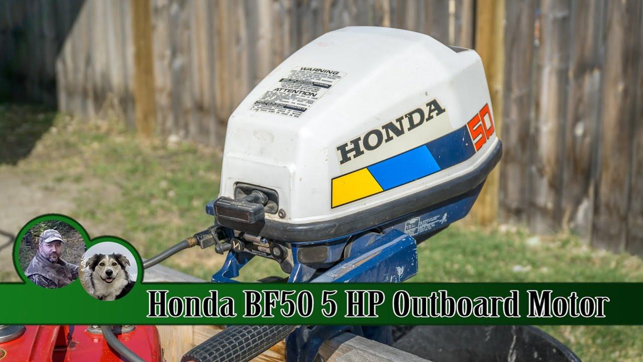 Honda 5hp 4 stroke outboard motor the bf50 youtube publicscrutiny Images