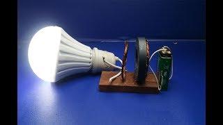 hoe maak gratis energie generator met magneten led-lamp gratis elektriciteit project 2018