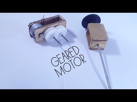 DIY Hight torque Low RPM DC motor  - YouTube