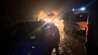 На выезде из Тулы столкнулись четыре  авто