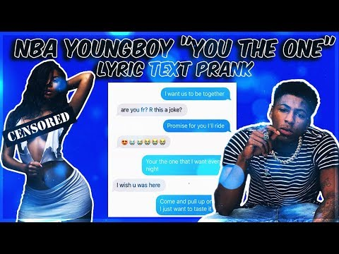 """NBA YOUNGBOY """"YOU THE ONE"""" LYRIC TEXT PRANK ON EX GIRLFRIEND WHO BLOCKED ME!!!"""