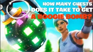 How Many Chests Does It Take To Get Boogie Bomb? (Fortnite Science)