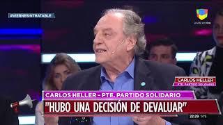 16-08-2019 - Carlos Heller en América TV – Intratables, con Fabián Doman – Escenario post PASO