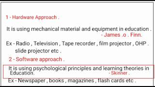 educational technology / types of educational technology / objectives of educational technology /