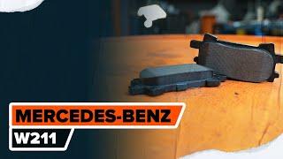 Cómo cambiar Juego de pastillas de freno MERCEDES-BENZ E-CLASS (W211) - vídeo guía