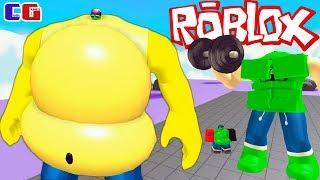 Встретил САМОГО ОГРОМНОГО ТОЛСТЯКА и ДРУЗЕЙ в РОБЛОКС! Симулятор ОБЖОРЫ Roblox от Cool GAMES