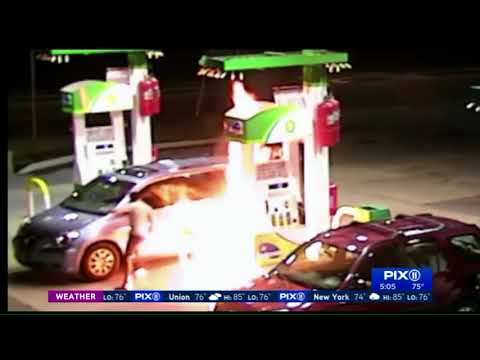 Search is on for man who tried to blow up Staten Island gas station