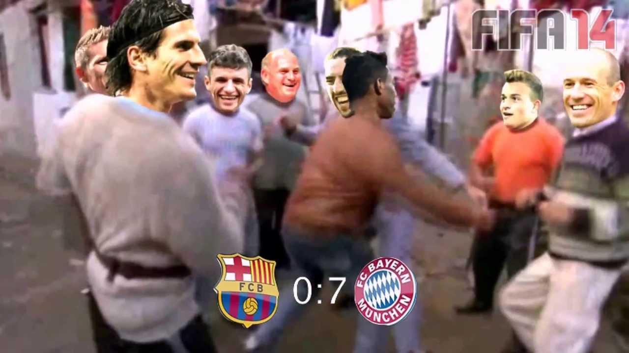 7 0 Fc Bayern Munich Vs Fc Barcelona Semi Final 1 May 2013 Trance Dance Funny Youtube