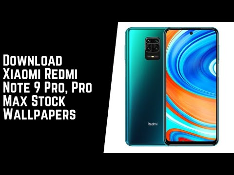 Redmi Note 9 Pro Max Stock Wallpapers Fhd With Download Link Youtube