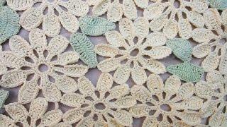 Цветочный мотив и листочек Flower And Leaf Motif Crochet