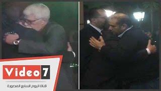 وزيرالعدل وطارق النهرى وريمون مقار فى عزاء جدة كريم ومحمد محمود عبد العزيز