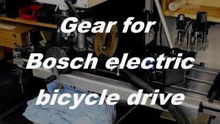 Machining a phenolic gear