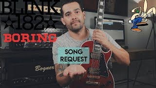 blink 182 boring guitar cover