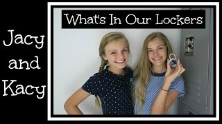 What's In Our Lockers ~ Back to School 2016 ~ Jacy and Kacy