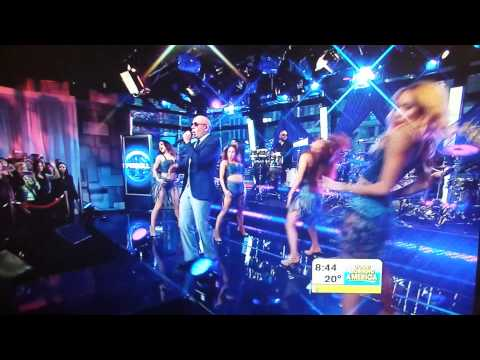 Pitbull performing 'Timber' ft Ke$sha live on GMA AMA
