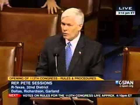 Chairman Pete Sessions on the Rules Package for the 113th Congress