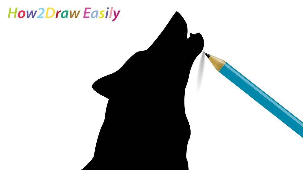 It is a picture of Priceless Wolf Silhouette Drawing