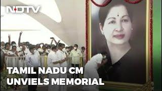 Jayalalithaa's Memorial Unveiled In Tamil Nadu Amid Sasikala's Release