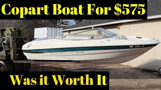 We bought a boat from Copart was it worth the $575 winning bid
