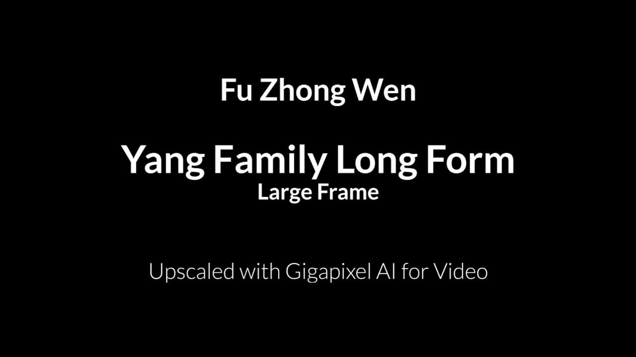Fu Zhong Wen - Yang Style Long Form
