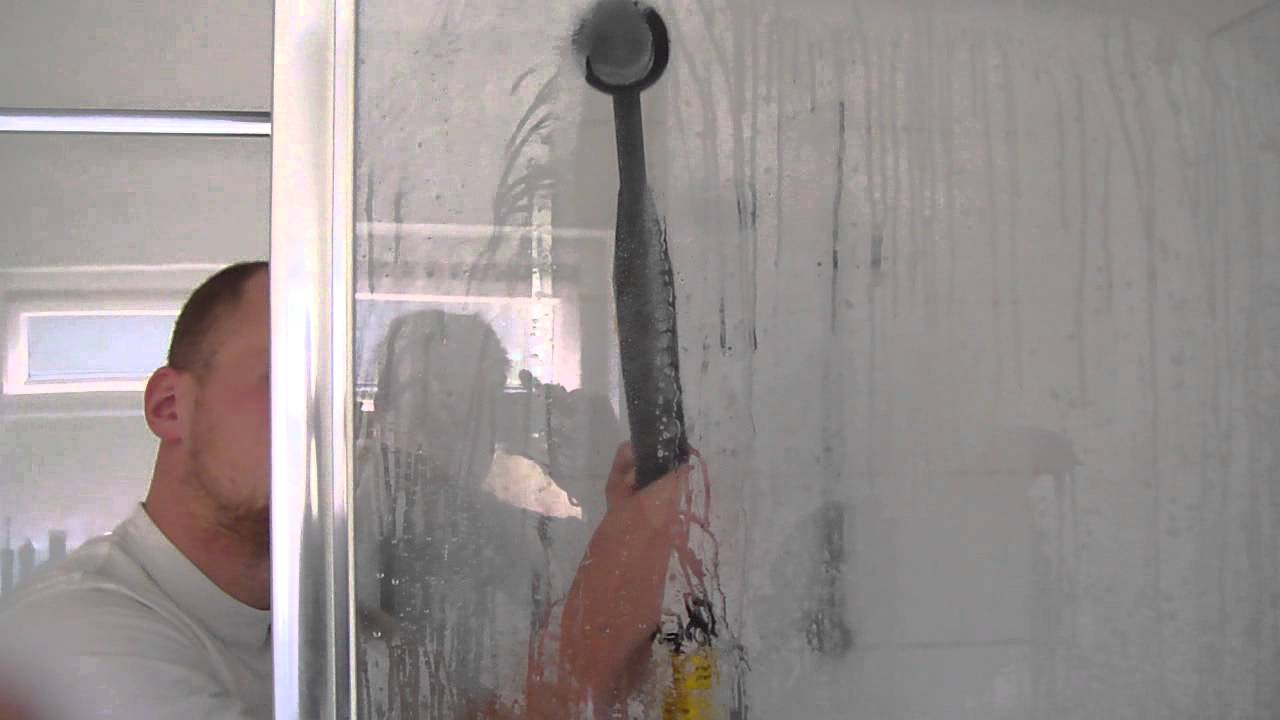 Professional Steam Cleaning Shower Screen   YouTube