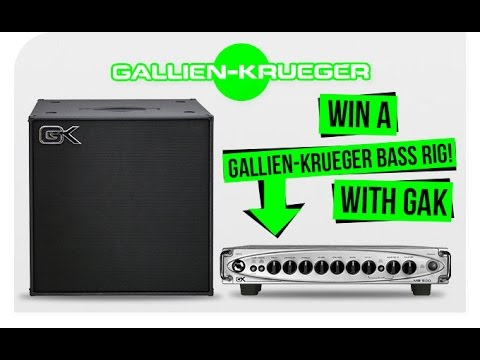 Win a Gallien-Krueger MB500 and 410MBE with GAK!