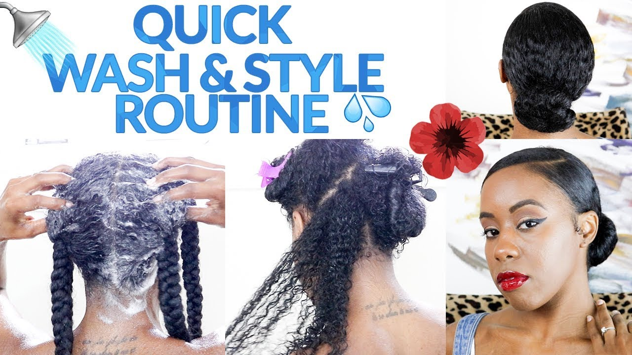 Natural Hair Simple Wash Day Routine Start To Finish Youtube