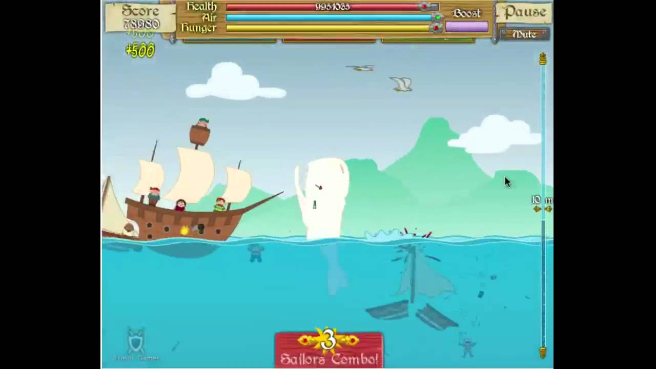 moby dick flash game
