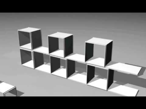 Build TWU Bookshelf In 5 Min (Belgium Amazing Invention) Alain Chennaux  Designer
