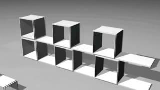 Build Twu Bookshelf In 5 Min (belgium Amazing Invention)-alain Chennaux Designer
