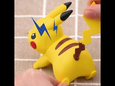 Pokemon - Pikachu Battle Pose Model Kit - Video