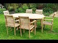 Teak Garden Table and Chairs Set Design UK