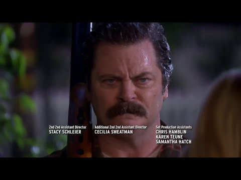 Parks and Recreation S07E05 - Ron Swanson shoots a drone
