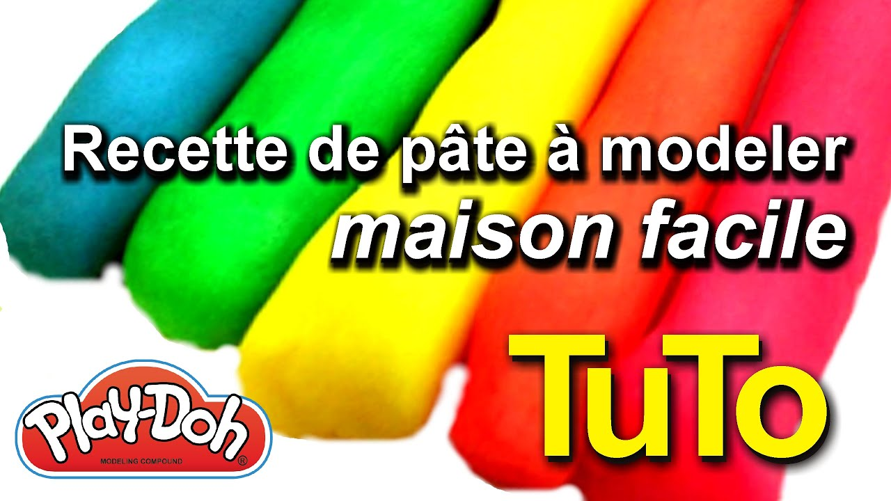 Recette comment faire sa p te modeler maison facile soi m me diy tuto play doh youtube - Creation a faire a la maison ...