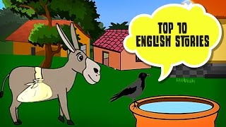 Top 10 English Story   Panchatantra Tales in English   Moral Stories For Kids In English
