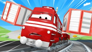 Troy The Train -  Frank the Fire Truck 3 - Car City ! Train Cartoon for children