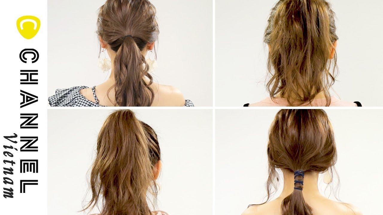 4 cách buộc tóc đuôi gà