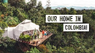We Stayed In A Dome House In Colombia & It Was Amazing!  Glamping In Guatapé