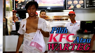 Thumbnail of Social Experiment – GEMBEL Masuk KFC Vs GEMBEL Masuk WARTEG, Lihat Apa Yang Terjadi !!