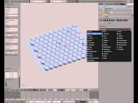 BLENDER / Creating Honeycomb Pattern