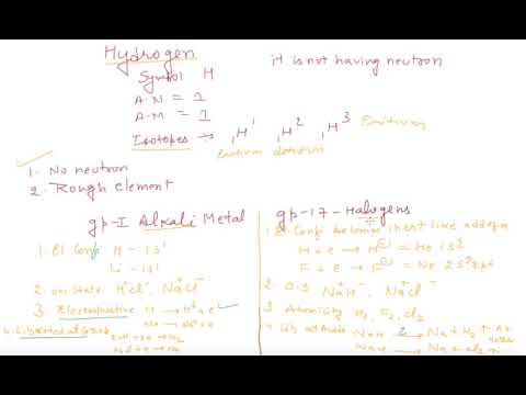 Hydrogen General Properties and Why it is Unique | Class 11 Chemistry Hydrogen
