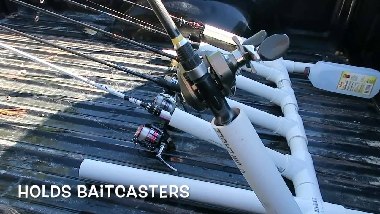 how to build a fishing rod holder for truck