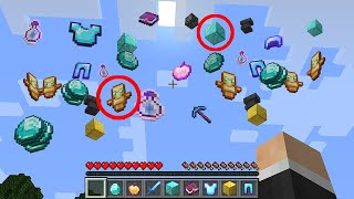 Minecraft UHC but random LOOT drops from the sky...