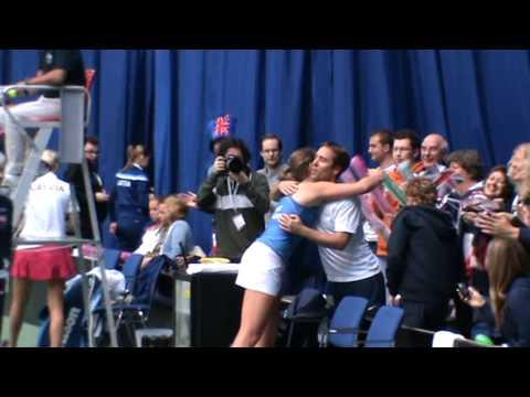 Johanna Konta defeats Diana Marcinkevica, Fed Cup 2014, Budapest