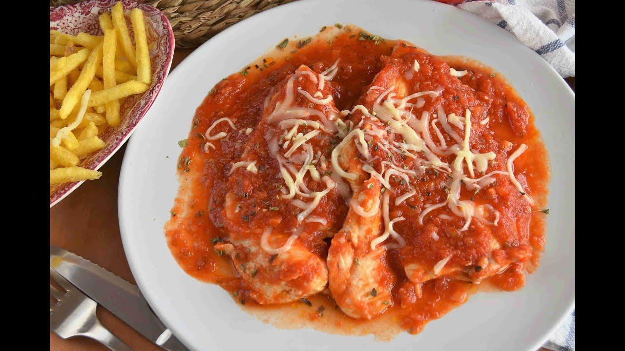 pechugas de pollo en salsa de tomate/ MUY FÁCILES Y JUGOSAS