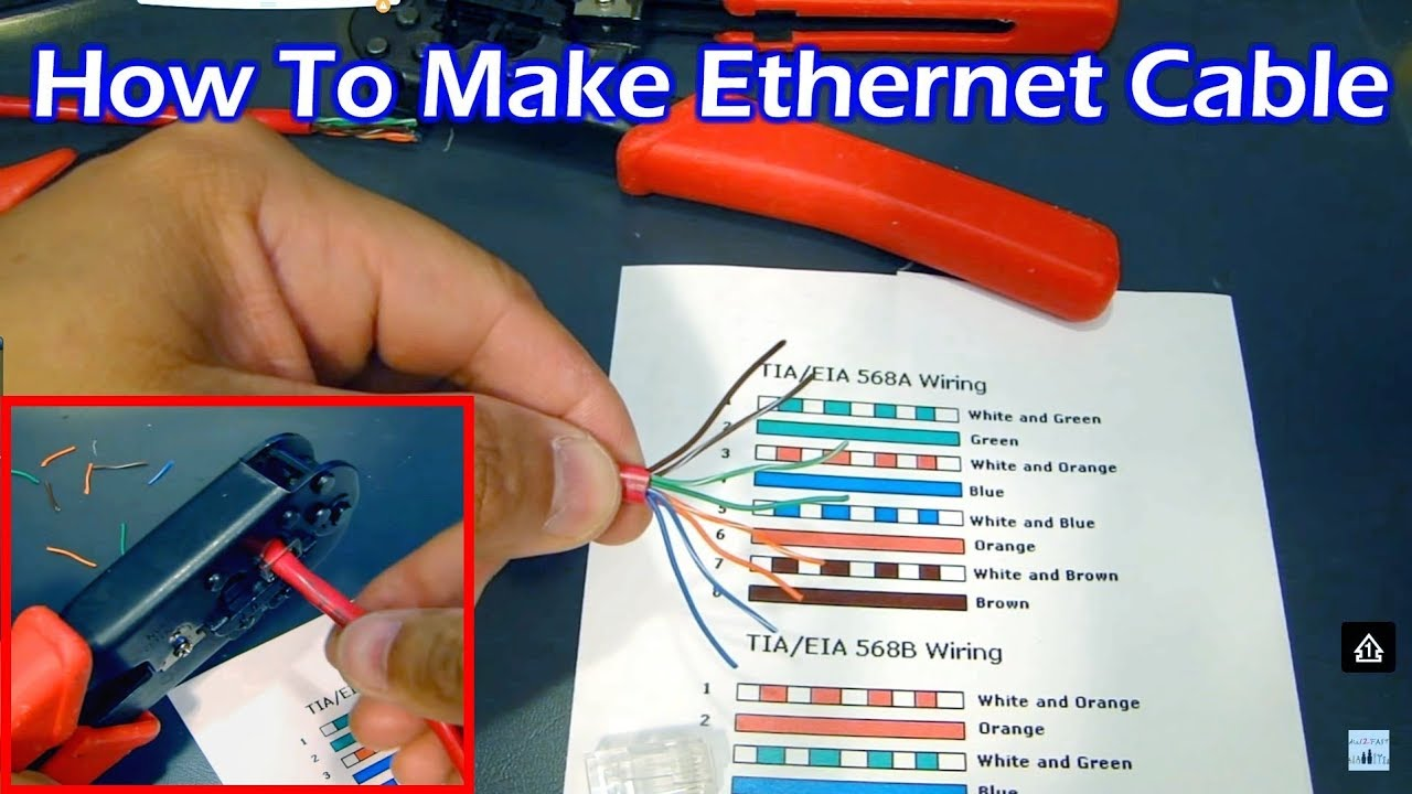 How To Make Ether Cable  Straight Through & Crossover