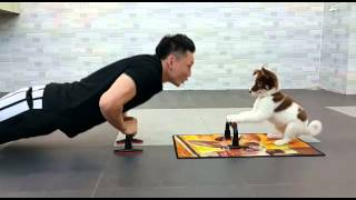 Fitness exercise with your dog - Eric Ko & Teeny