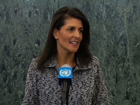 Haley promises 'new strength' for U.S. within United Nations